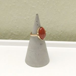 Gold and wood ring